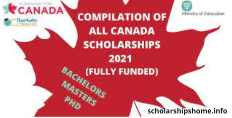 Compilation of All Canada Scholarships 2022   Fully Funded