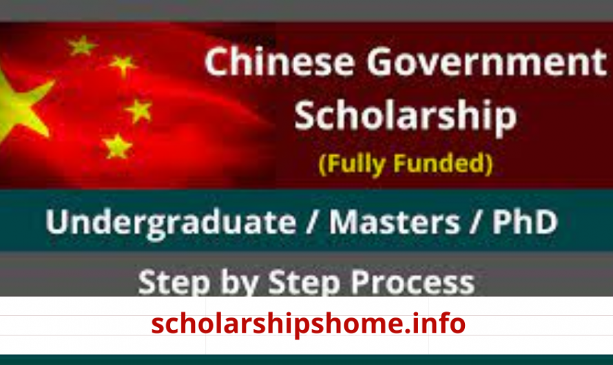 Chinese Government Scholarship 2022   Step by Step Guide